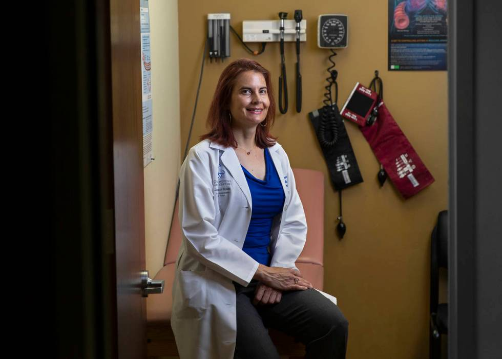 Nurse practitioner Denise Horvath at Mountain View Medical Office on Saturday, May 2, 2020. (Be ...