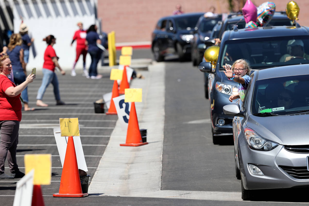 Legacy Traditional School Southwest fifth grader Skyler Milner, 11, during an appreciation para ...