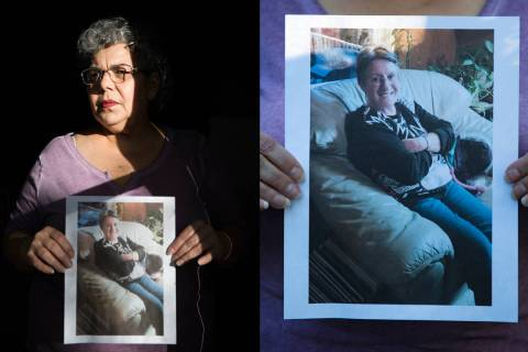 Michele Franzese Rustigan holds a photo of her sister, Rosemarie Franzese, who died at 70 years ...