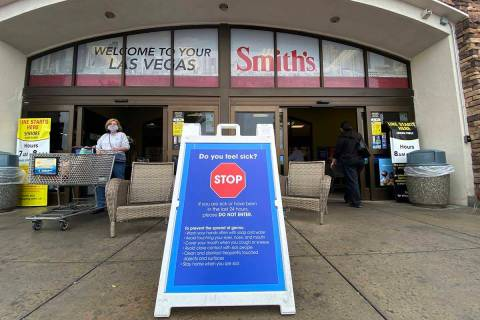 Smith's Food & Drug is offering COVID-19 testing to all employees. (K.M. Cannon/Las Vegas Revie ...