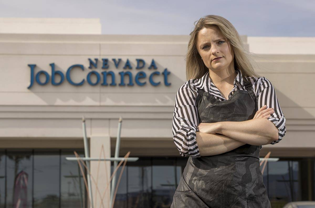 Independent contractor Carmen LaBrake, outside of Nevada JobConnect, is struggling with the lac ...