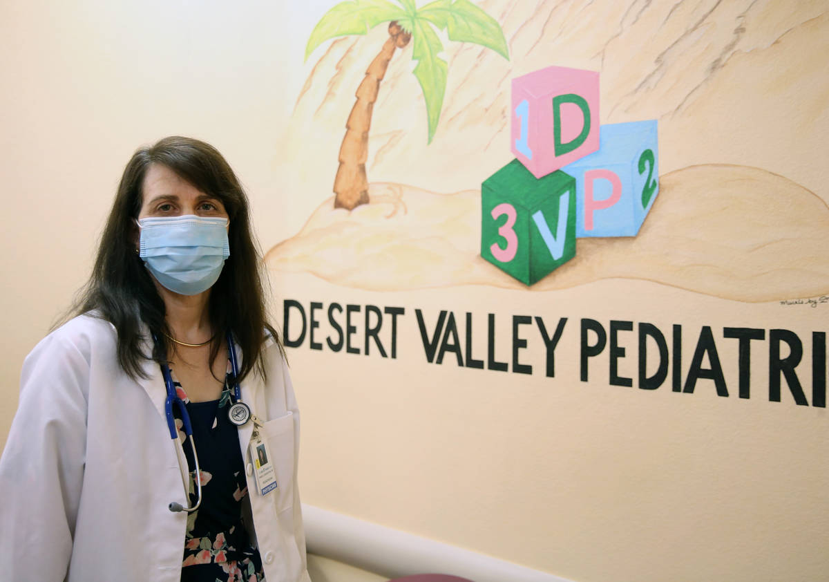 Dr. Pamela Greenspon poses for a photo at Dessert Valley Pediatrics on Tuesday, May 5, 2020, in ...