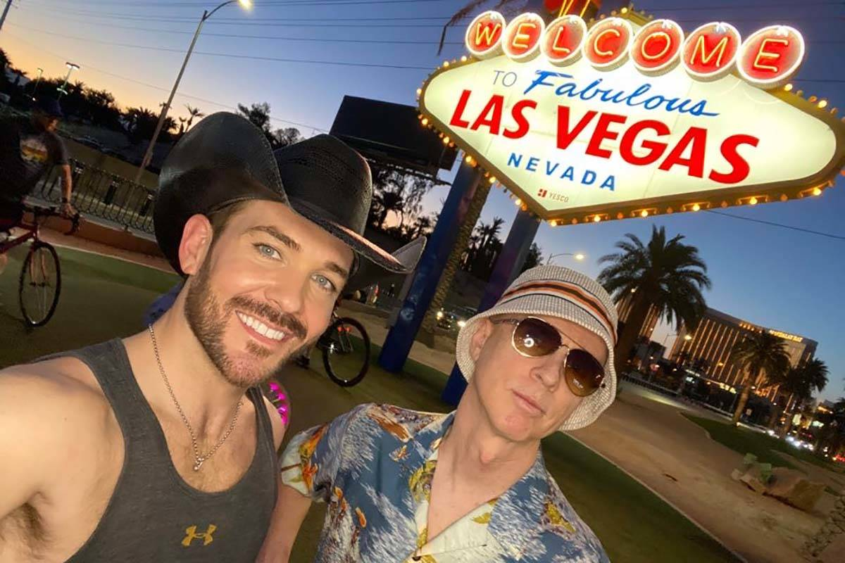 Country artist Chase Brown and guitarist Glen McCallum are shown at the Welcome to Las Vegas Si ...