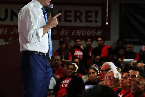 Democratic presidential candidate Joe Biden. (Bizuayehu Tesfaye/Las Vegas Review-Journal) @bizu ...