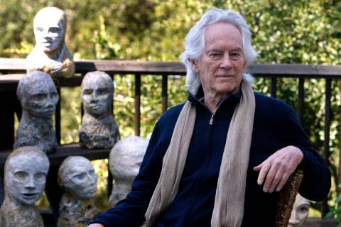 FILE - In this Sept. 16, 2010, file photo, beat poet Michael McClure is seen on his deck with s ...