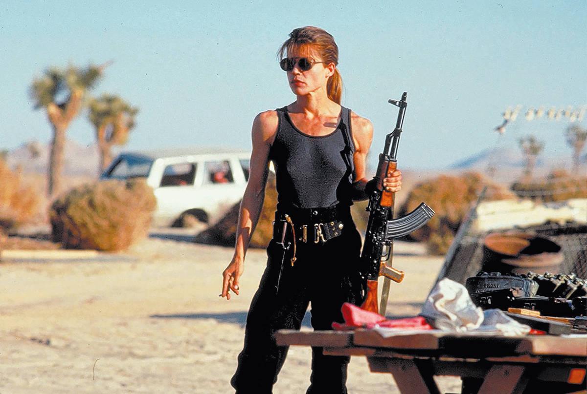 """Linda Hamilton in """"Terminator 2."""" (TriStar Pictures)"""