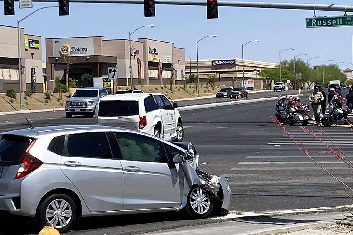 One person was critically injured in a crash at Russell and Fort Apache roads on Thursday, May ...