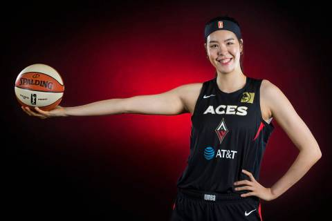 Aces center JiSu Park during media day on Monday, May 13, 2019, at Mandalay Bay Events Center, ...