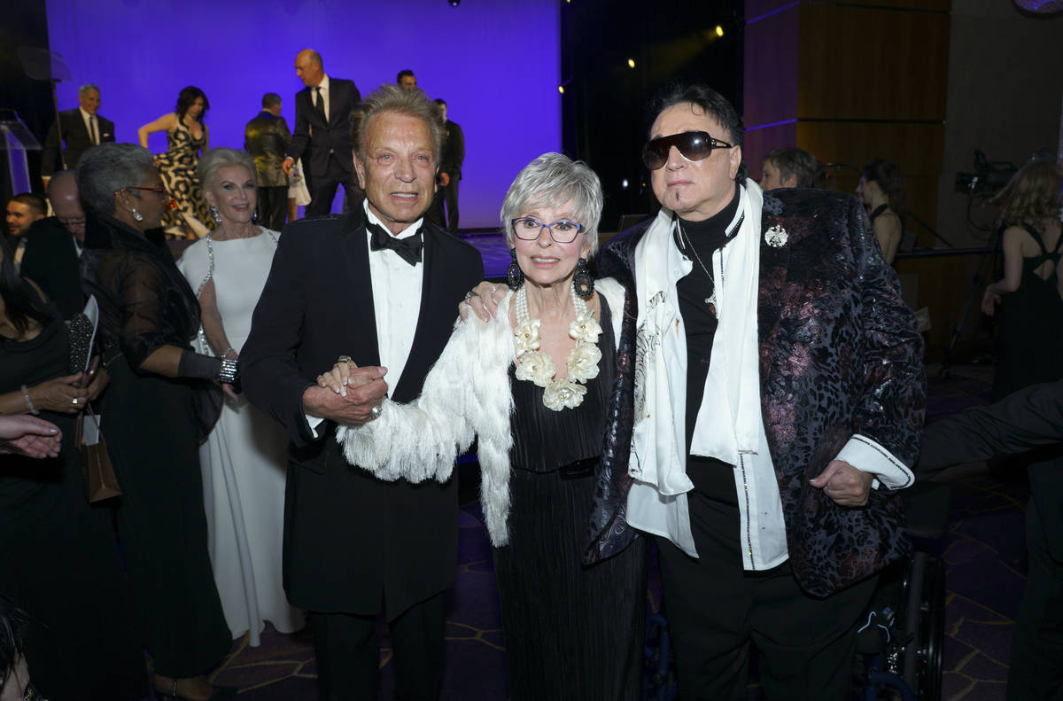 Entertainment legend Rita Moreno with Siegfried & Roy after accepting her Woman of the Year ...