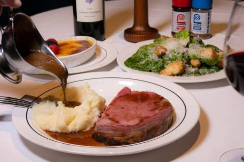 A prime rib dinner at Lawry's. (Lawry's the Prime Rib)
