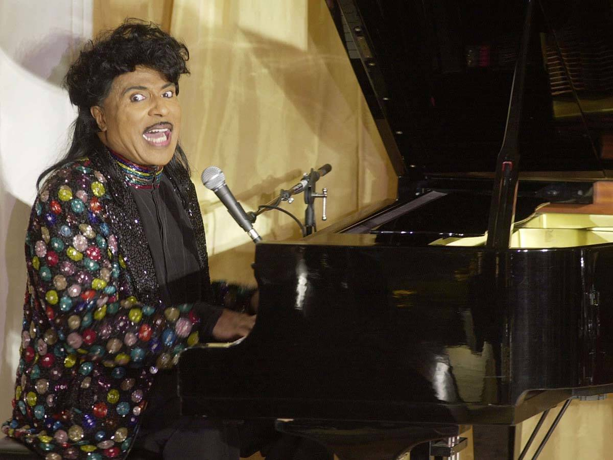 In this July 22, 2001 file photo, Little Richard performs at the 93rd birthday and 88th year in ...