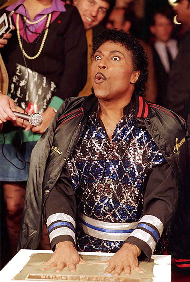In this Nov. 13, 1986 file photo, Little Richard places his hands in cement as he is inducted ...