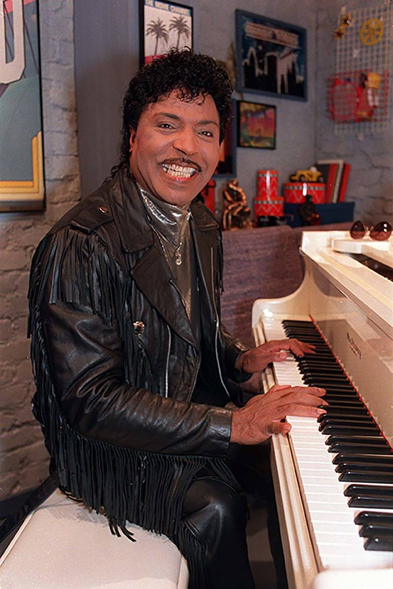 In this Jan. 22, 1988 file photo, Little Richard plays the piano during taping at The Movie Cha ...