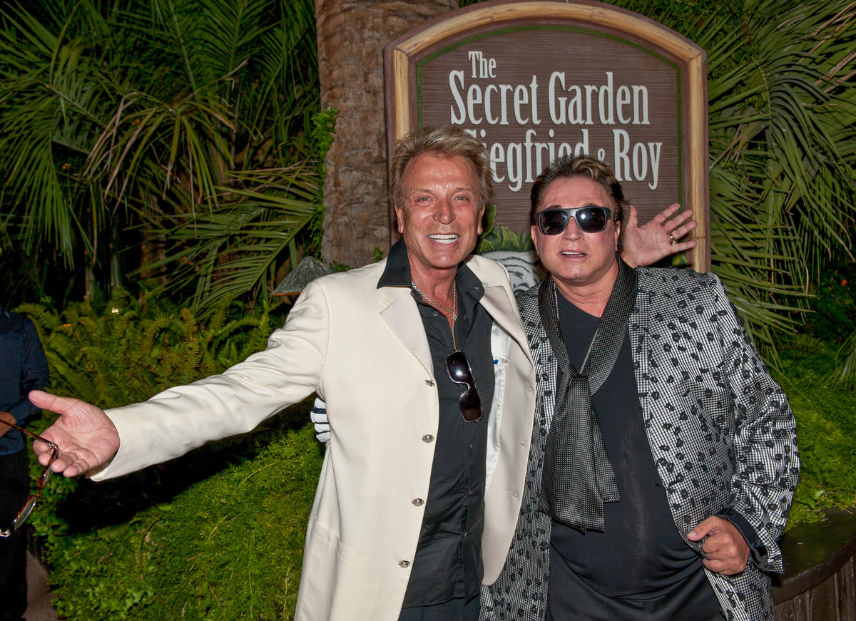 Siegried & Roy are shown at the Secret Garden at the Mirage in Oct. 22, 2015. (Tom Donoghue)