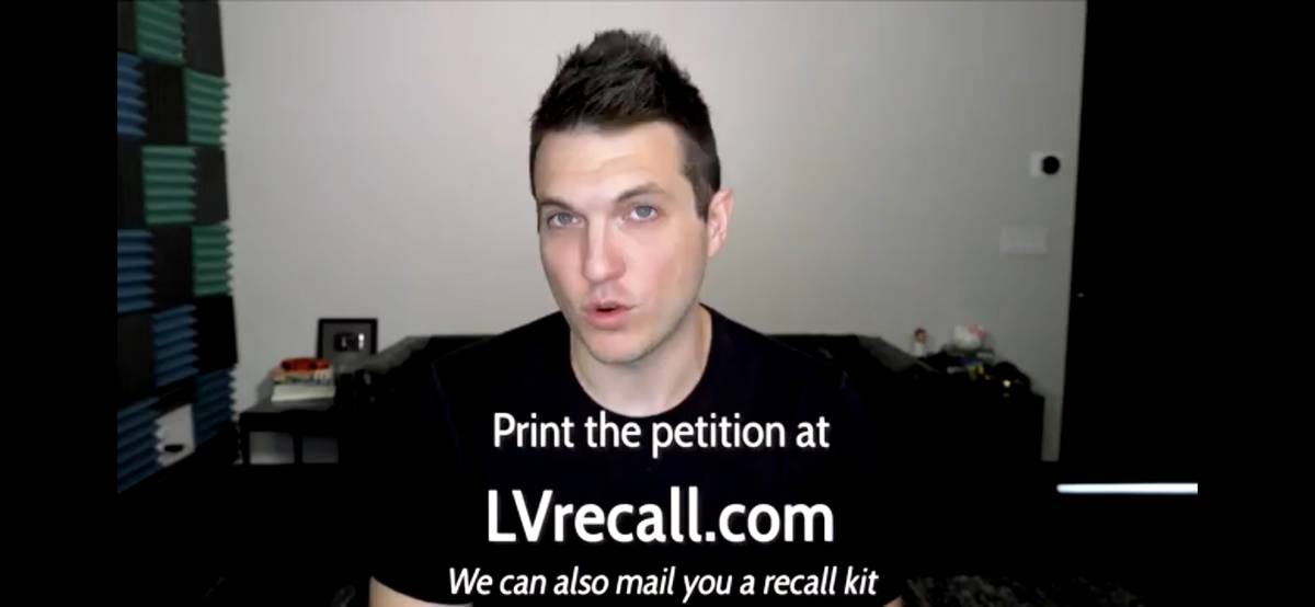 Former professional poker player Doug Polk provides a contact email in a YouTube video for vote ...