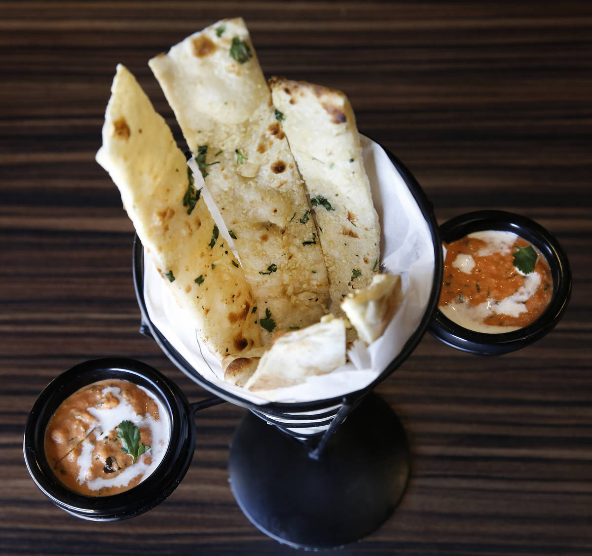 Mint Indian Bistro locations at 730 E. Flamingo Road and 4246 S. Durango Drive are open for din ...
