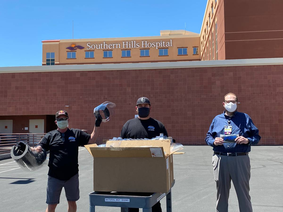 American Adventure Tours owner Rick Wyatt and his team recently donated masks and face shields ...