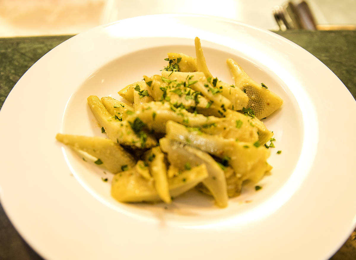 Peppers and mozzarella with pasta for diners at D'Agostino's Trattoria on Mother's Day Sunday, ...