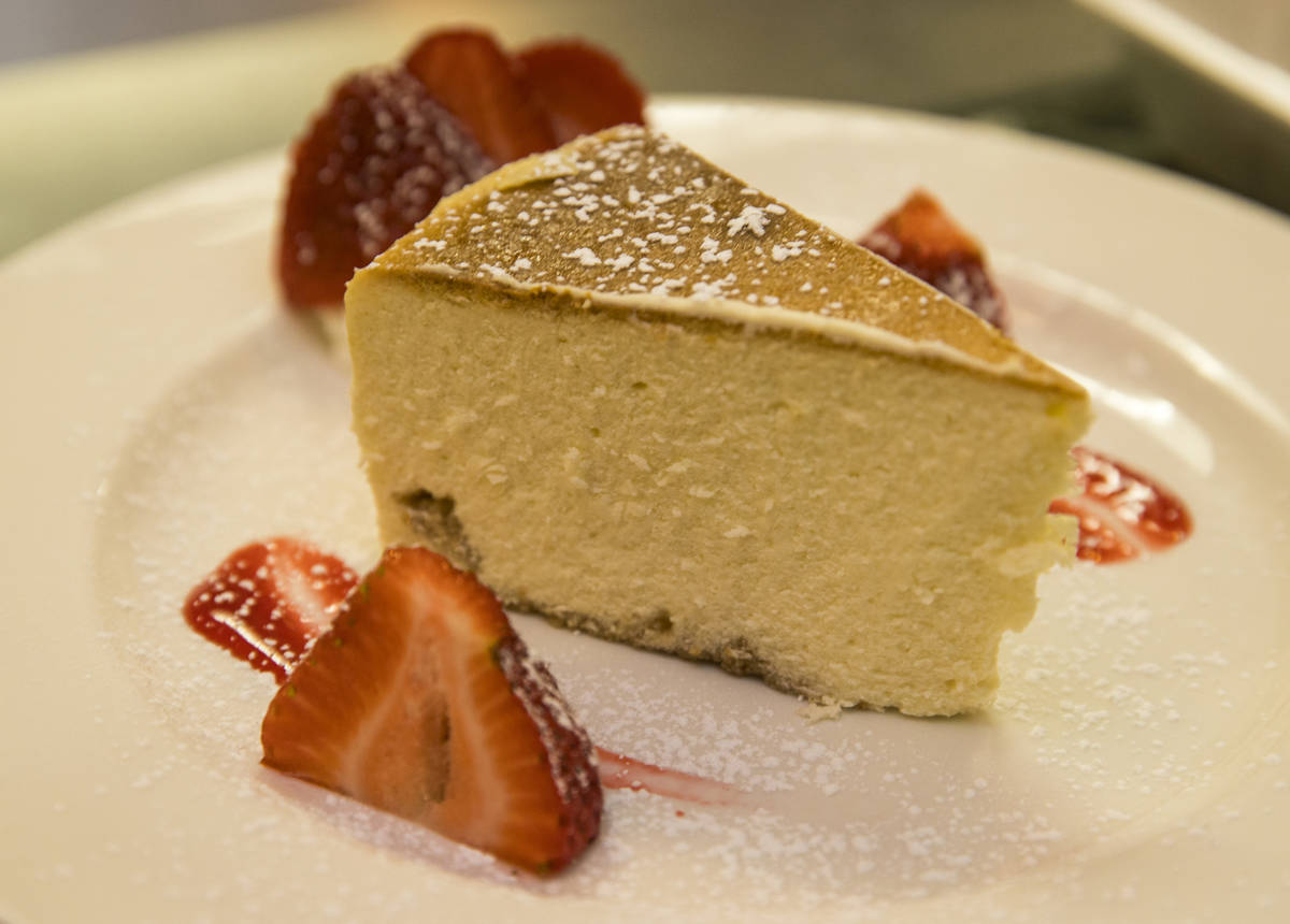 Cheese cake is a fine dessert after a Mother's Day meal at D'Agostino's Trattoria on Sunday, Ma ...