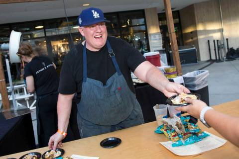 Esther's Kitchen chef/owner James Trees in downtown Las Vegas in this June 23, 2018, file photo ...