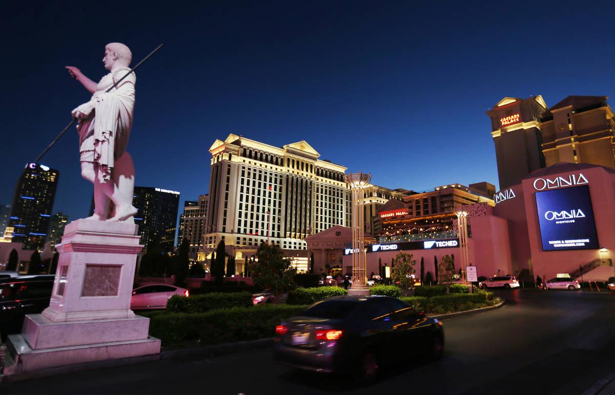 Caesars Palace on the Strip Thursday, Oct. 4, 2018. K.M. Cannon Las Vegas Review-Journal @KMCan ...