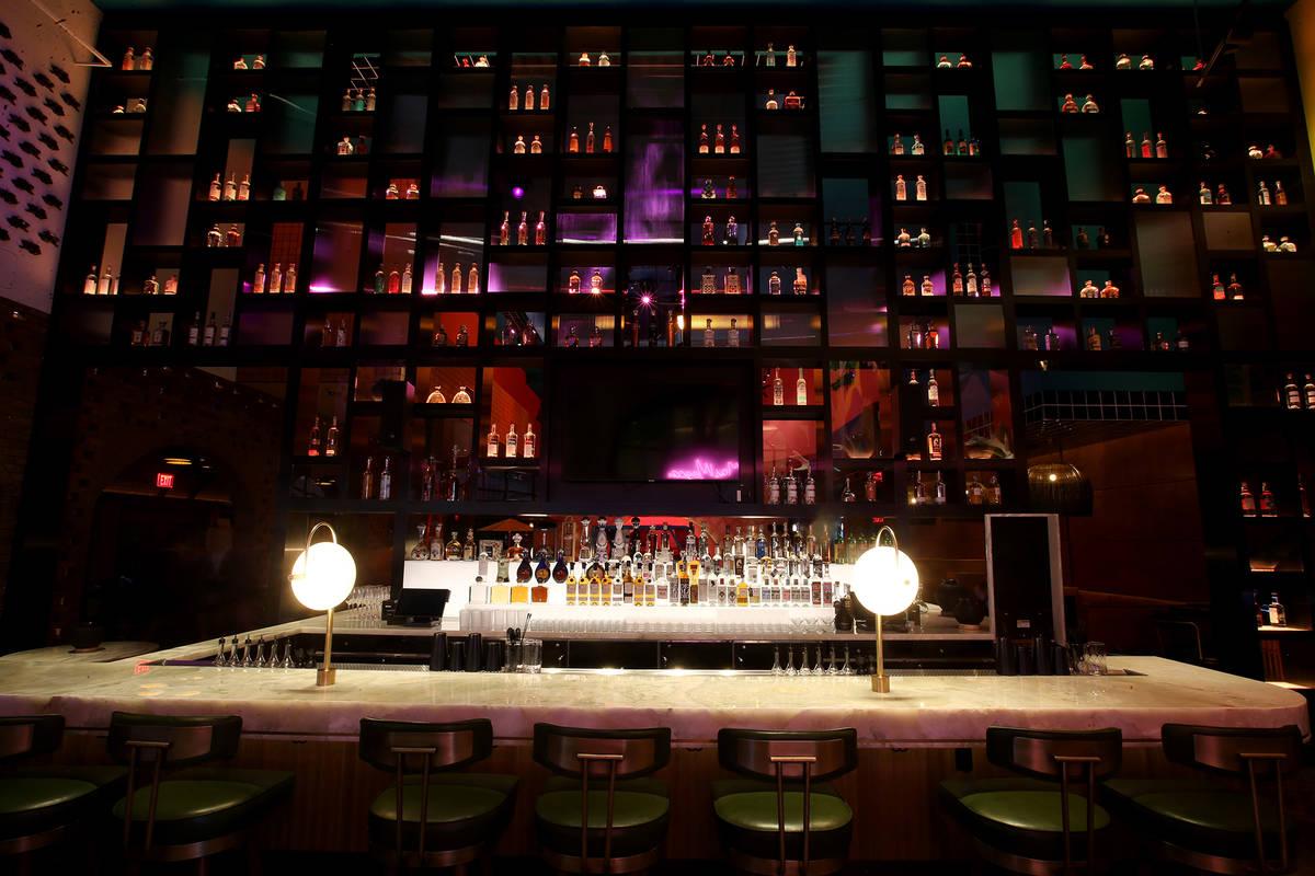 The bar inside Mama Rabbit at Park MGM in Las Vegas Friday, Aug. 16, 2019. (K.M. Cannon/Las Veg ...