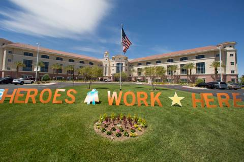 St. Rose Dominican Hospital's San Martin campus at 8280 W. Warm Springs Road is photographed on ...