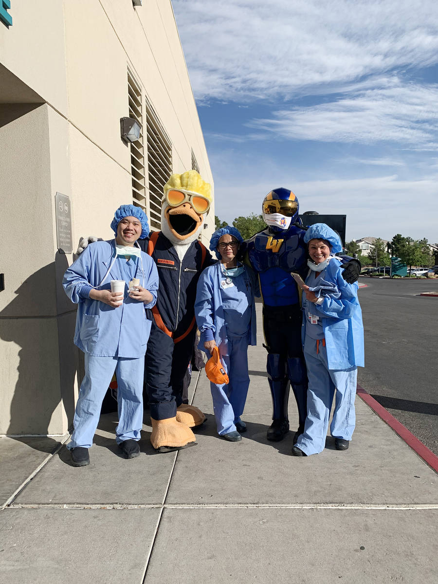 On Wednesday, Summerlin developer, The Howard Hughes Corp., wished Summerlin Hospital nurses an ...