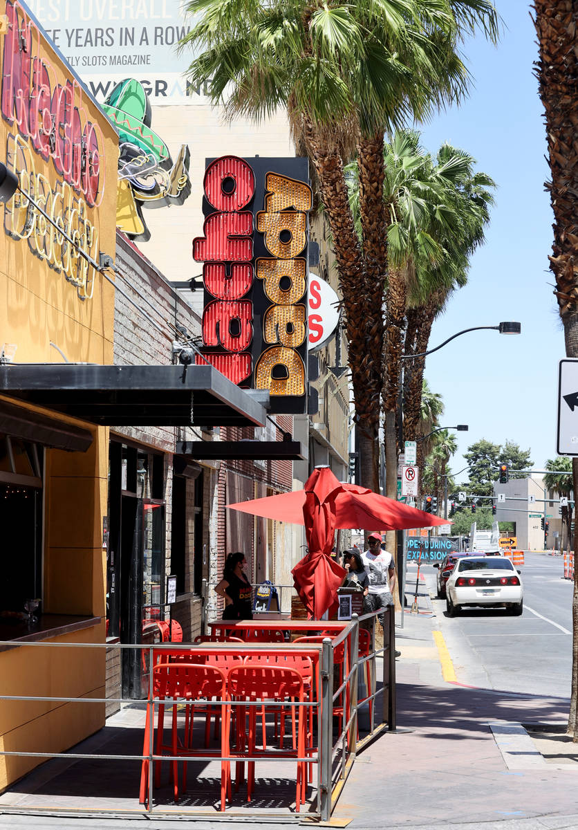Nacho Daddy on 4th Street in downtown Las Vegas Tuesday, May 12, 2020. (K.M. Cannon/Las Vegas R ...