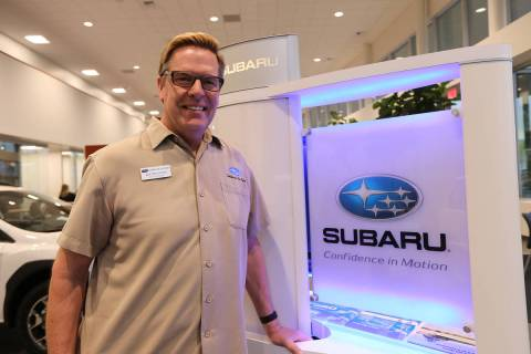 Subaru of Las Vegas General Manager Burton Hughes oversees the dealership at 6544 Roy Horn Way ...