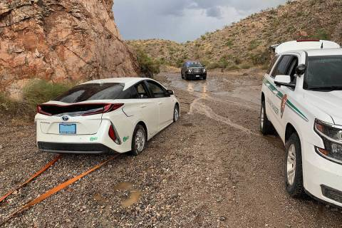 First responders at Lake Mead National Recreation Area rescued 12 people, including a 3-year-ol ...