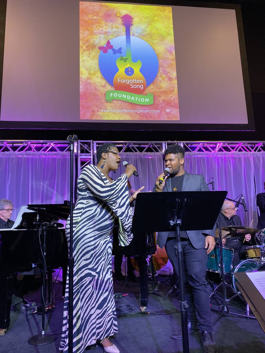 Toscha Comeaux and Gary Fowler are shown performing at Notoriety at Neonopolis on Sunday, Nov. ...