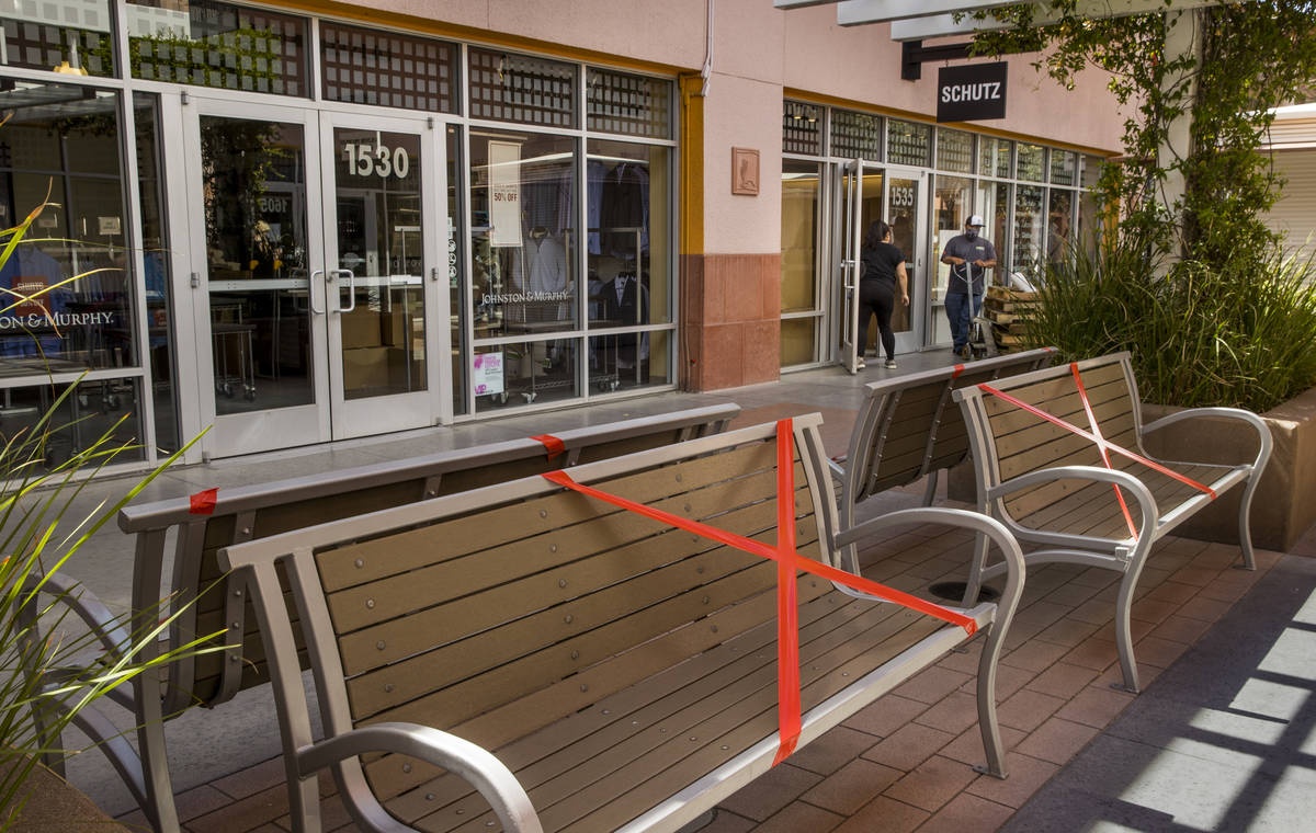 Some seating is now restricted to encourage social distancing throughout the Las Vegas North Pr ...