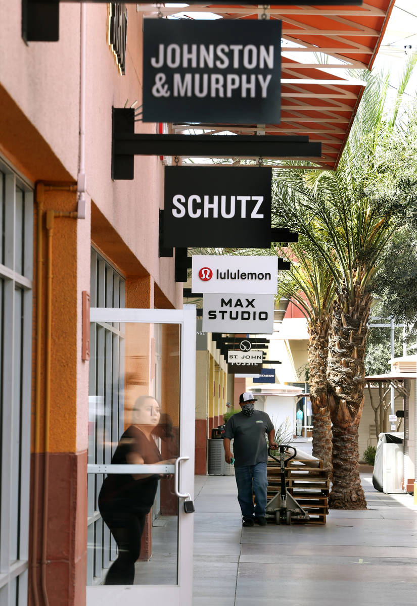 Deliveries continue to arrive at the Las Vegas North Premium Outlets as seen during a media tou ...