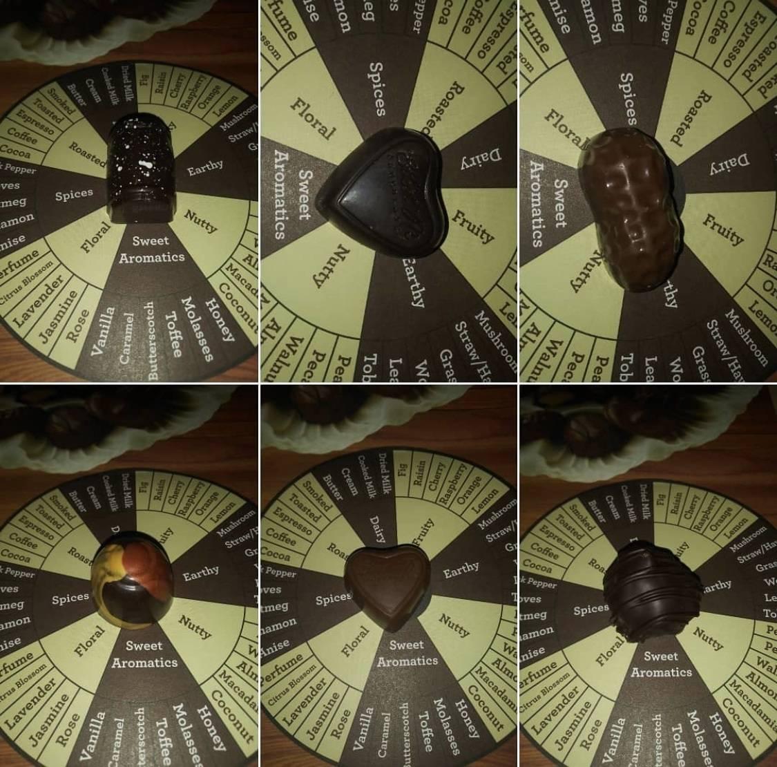 Detail of virtual-tasting placement. (Ethel M Chocolates)