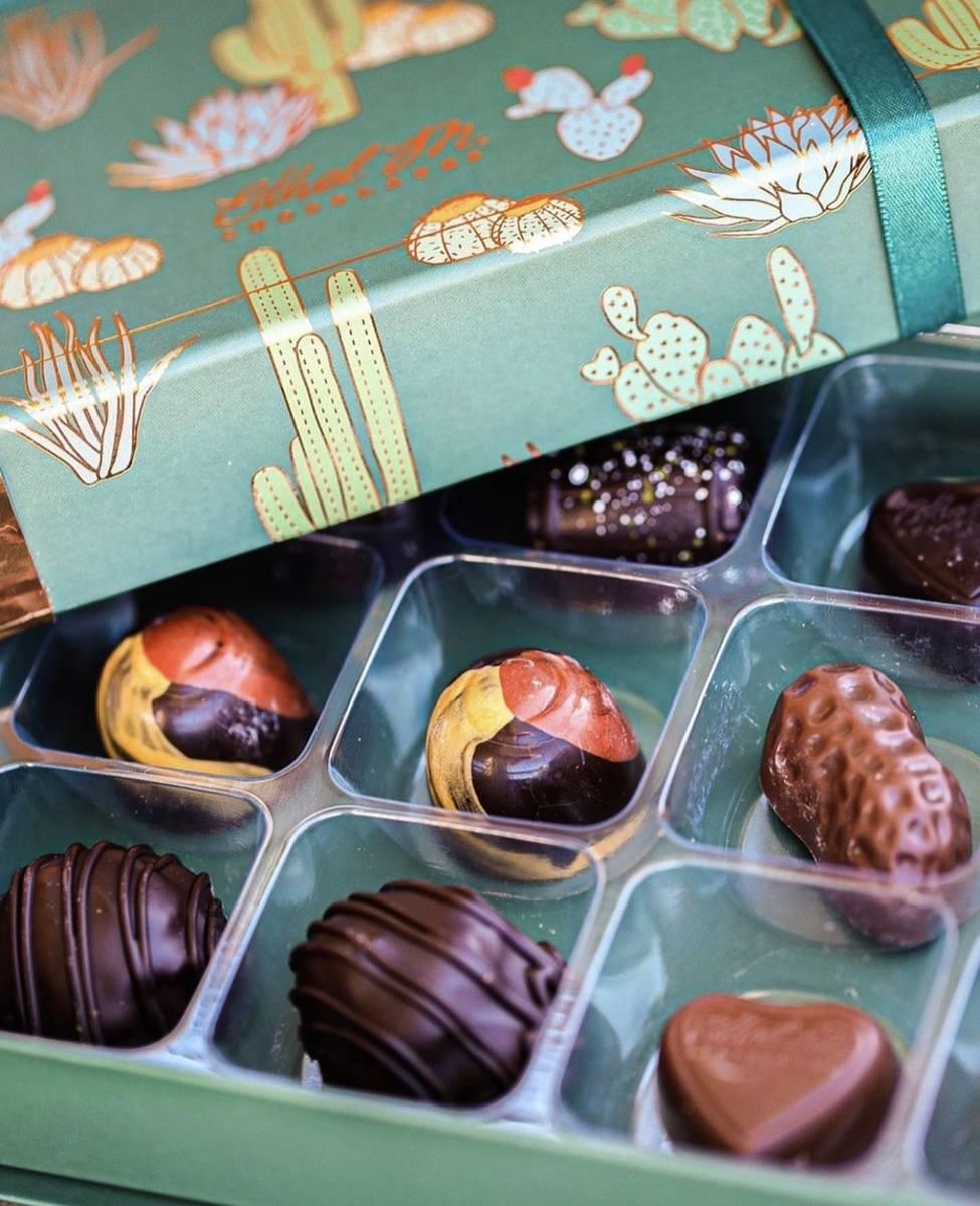 A sample virtual-tasting box. (Ethel M Chocolates)
