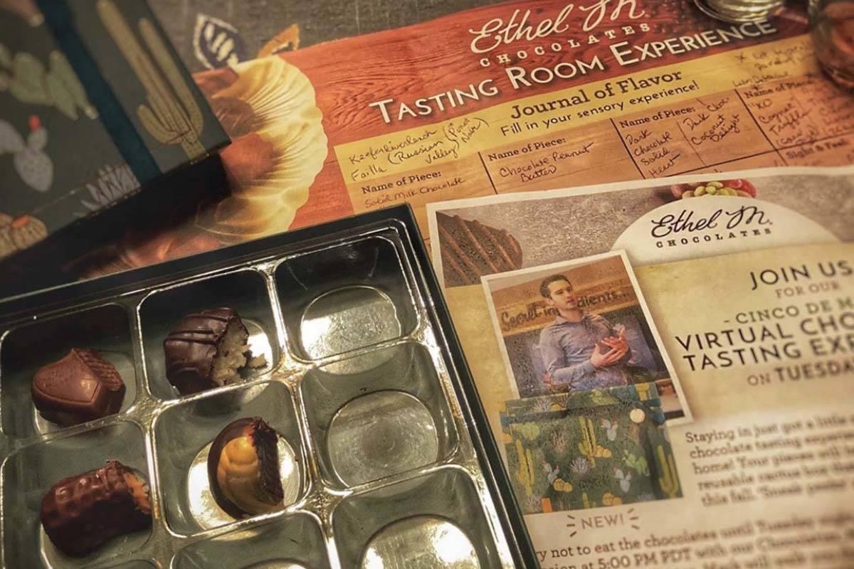 Virtual-tasting kit. (Ethel M Chocolates)