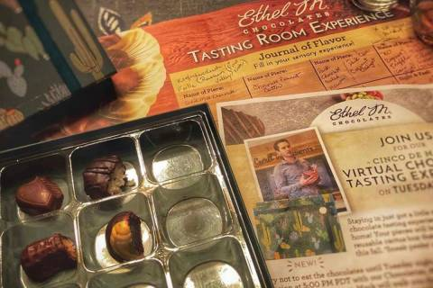 Virtual-tasting kit. (Ethel M Chocolates)