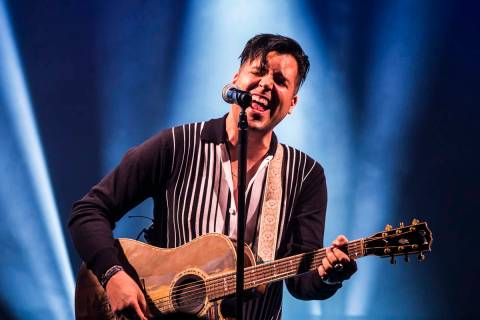 Singer and piano showman Frankie Moreno wows the crowd at The Showroom at the Golden Nugget on ...