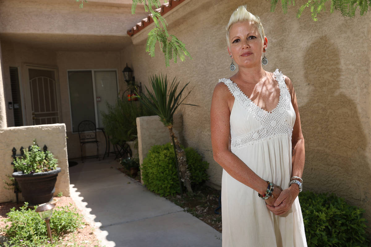 Susy Marsian-Bolduc, a musician and tour guide in Las Vegas, at her home in Las Vegas, Wednesda ...