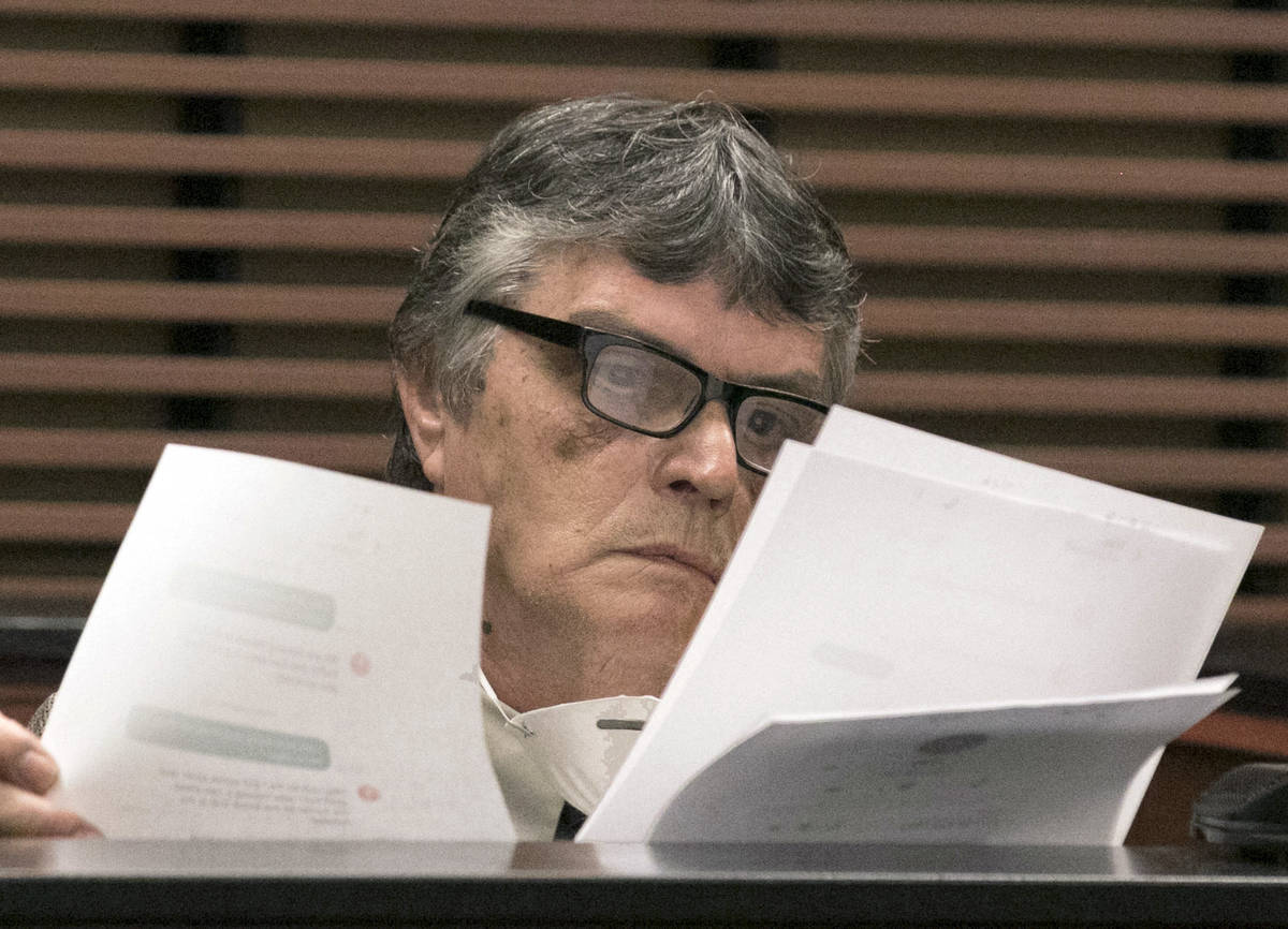 Richard Ameral, victim of kidnapping and armed robbery, reviews evidences as he takes the witne ...
