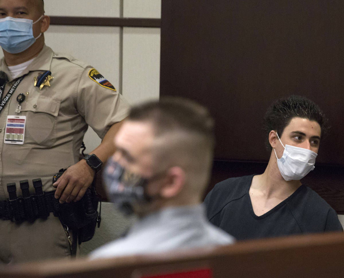 Joshua Nichols, left, and his co-defendant, George Moya, 24, accused of kidnapping, burglary an ...