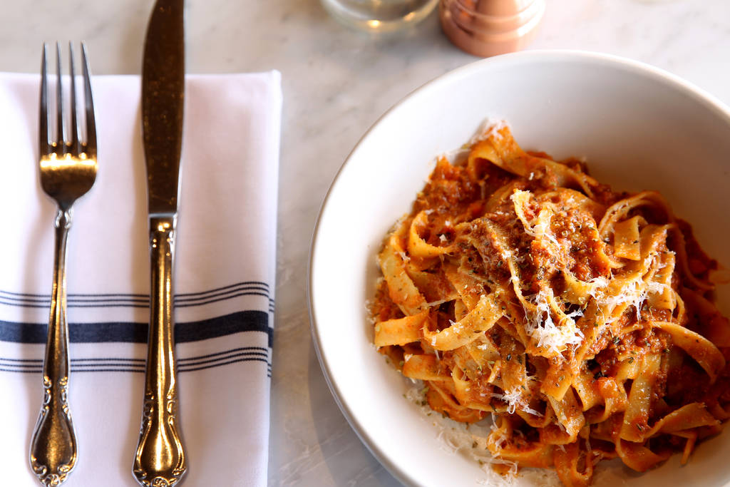 The Bolognese at North Italia. The restaurant has reopened for dine-in service. (K.M. Cannon La ...