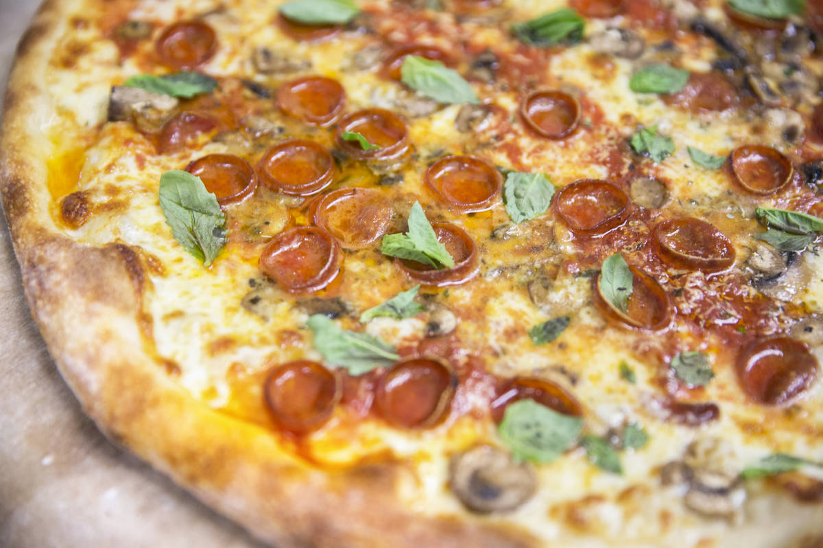 Metro Pizza locations are now offering dine-in service. (Benjamin Hager/Las Vegas Review-Journa ...
