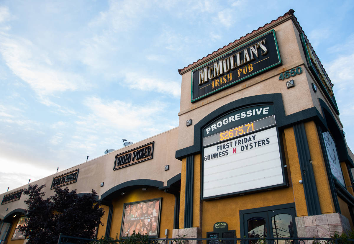 McMullan's Irish Pub at 4650 W. Tropicana Ave. has reopened. (Review-Journal file photo)