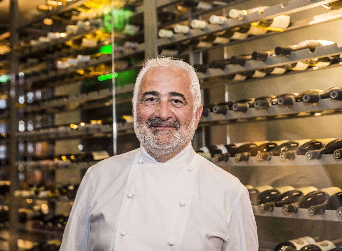Michelin-starred Chef Guy Savoy at Restaurant Guy Savoy at Caesars Palace in this April 27, 201 ...