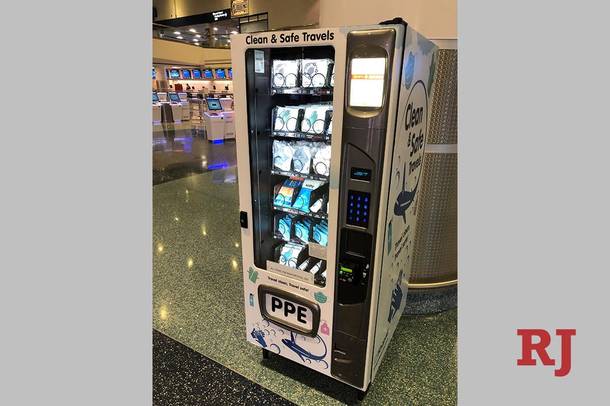 With the ongoing coronavirus pandemic Las Vegas' McCarran International Airport has inst ...