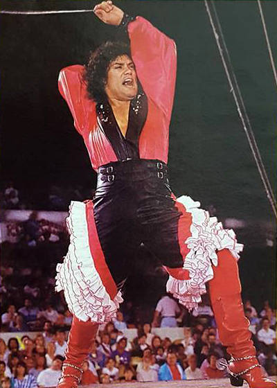 Luis A. Frias leads the Los Gauchos Latinos dance troupe, performing with the Ringling Brothers ...