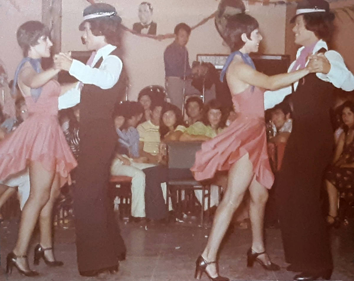 Luis A. Frias dancing the tango alongside his identical twin brother. His family is not sure wh ...