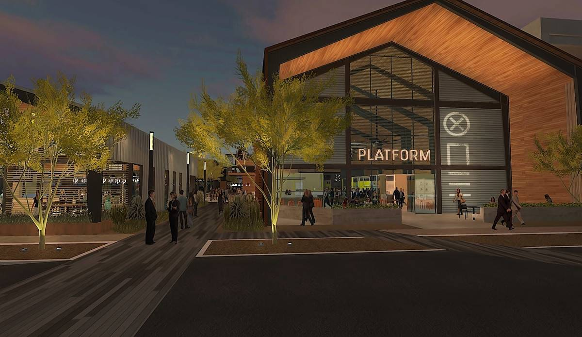 An artists rendering for the Platform One food hall at UnCommons. (UnCommons)